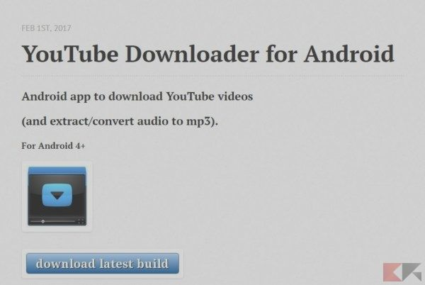how to download videos from youtube to android