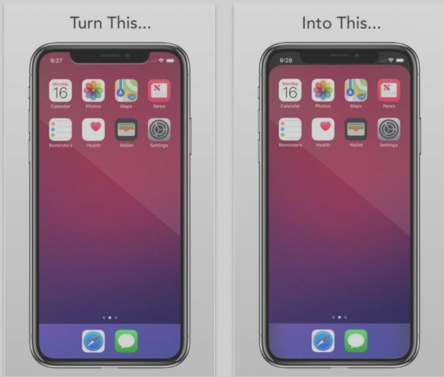 Hide the notch of the iPhone X thanks to a wallpap