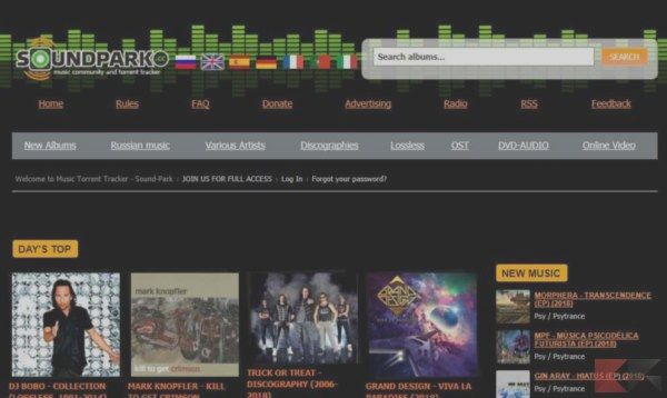 torrent to download music albums