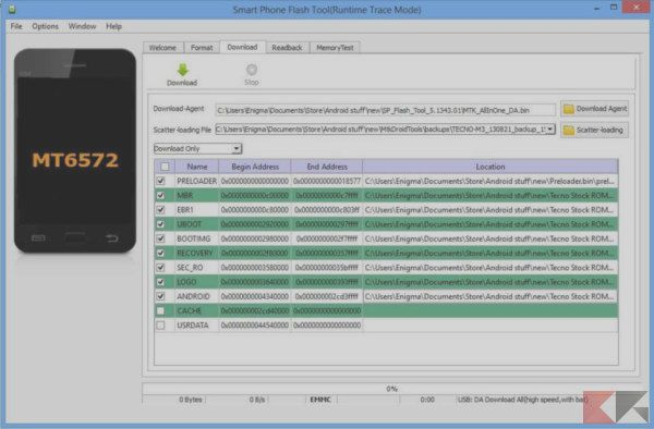 How to flash ROM on Android with SP Flash Tool | BitFeed co