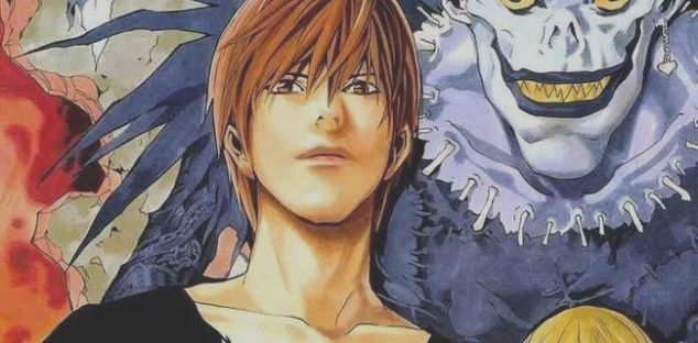 Death Note Takeshi Obata Drawing Of Light And Ryu