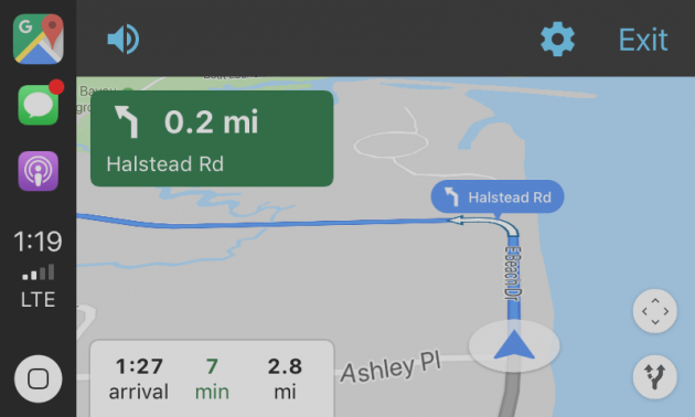CarPlay: Google Maps is now available with iOS 12   BitFeed.co on google maps screenshot, google maps update, google maps path,