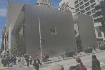 The new Apple Store in San Francisco and the crazy mania of the details