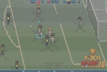 Pixel Cup Soccer 16: soccer game-style pixel-art
