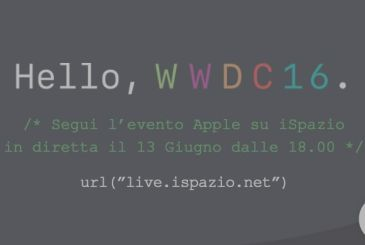 Follow the WWDC 2016 on iSpazio: Presentation of iOS 10, the new MacOS, tvOS and watchOS | 13 June at 18:00