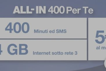 Three responds to the Wind with the ALL-IN 400 For You to 400 minutes and SMS with 4 GB to 5€ per month