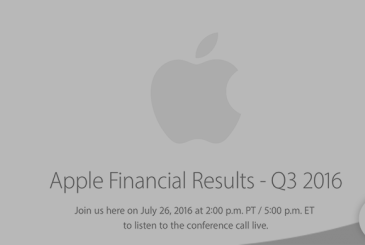This evening there will be a conference of Apple for results fiscal Q3 2016
