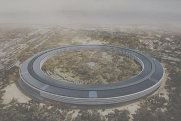 Progress on the construction site of Apple Campus 2