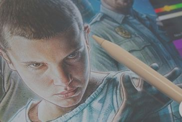 """The poster for """"Stranger Things"""" was realized with the iPad Pro and the Apple Pencil"""