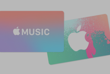 Get the gift cards for the Apple Music for 2 months of music as a gift