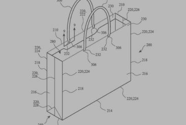 Apple patented the envelope made with recycled paper