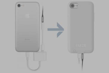 Fuze Case, the case that shows the jack from 3.5 mm on the iPhone 7