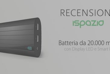 External battery, Vinsic 20,000 mAh battery, glossy black design and LED display | Review iSpazio