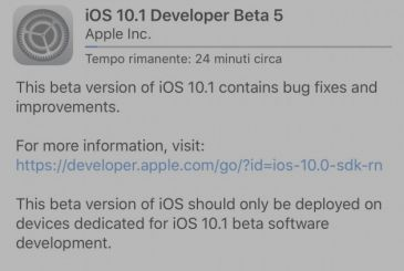 Apple releases iOS 10.1 beta 5 for developers and testers public!