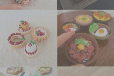 Mini cupcakes that mimic the foods of the japanese cuisine