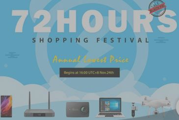 On GeekBuying, 72 Shopping Hours: from tomorrow until the end of the BlackFriday