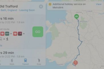 Apple Maps adds information about public transport in the United Kingdom