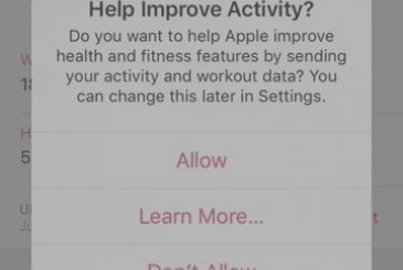 Apple requires access (anonymous) to the data of app Health to improve the service