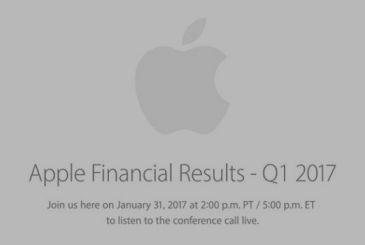 On the 31st of January will be held financial conference Apple Q1 2017