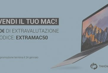 Sell your Mac on TrenDevice: extravalutazione of 50 euro