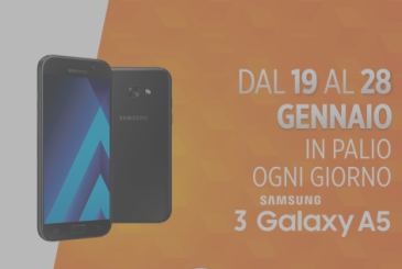 Wind in step with the times: in palio 3 Galaxy A5 2017 to the day among those who recharge online