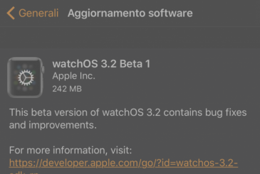 Apple releases the first beta of watchOS 3.2!