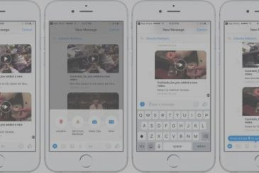 Facebook head of a Messenger-style 'Message' to Apple