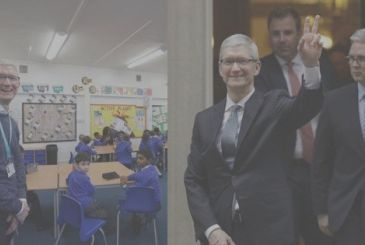 Tim Cook in the UK between Brexit and schools with iPad