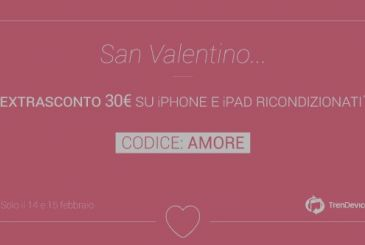 TrenDevice Valentine's day special: Extra Discount is€ 30 for 48 hours on all iPhone and iPad Reconditioned!