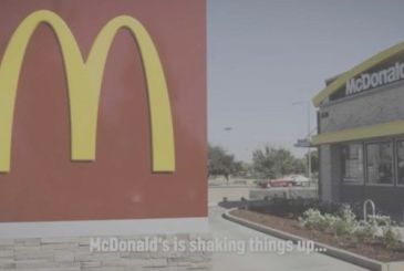 Mcdonald's announces a new drinking straw with a parody on Apple