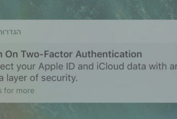 IOS 10.3: Apple suggests to enable authentication in two steps, via push notification