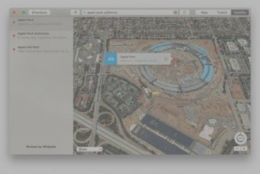 The Apple Park appears in Flyover Maps