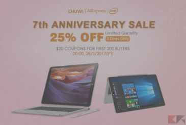 CHUWI: discounts and coupons on tablets and PC for the 7 years of AliExpress