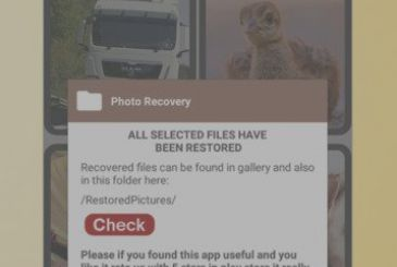 Recover deleted photos from mobile phone