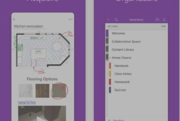 New graphical interface for Microsoft OneNote