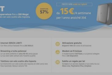 Promotion super for Fastweb: fiber from 15€ per month for the first year!