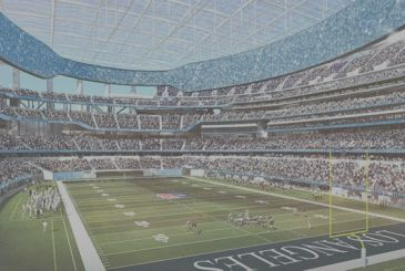 Postponement of a year for the new stadium of Los Angeles