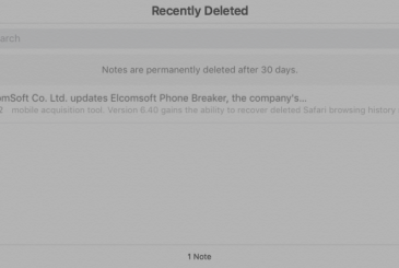 Apple does not delete the notes from iCloud after 30 days?