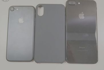 The houses of the alleged iPhone 8 compared with the iPhone 7 and 7 Plus