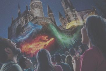Behold the spectacle of the lights of Hogwarts in the video and in the preview!