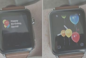 WatchOS 4 makes you the birthday wishes!