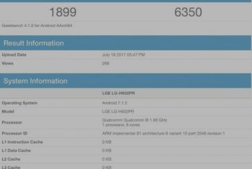 LG V30 shows up on Geekbench
