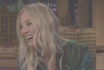 The Big Bang Theory, photos from the set with Kaley Cuoco