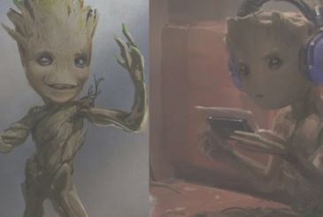Guardians of the Galaxy vol.2, the new extended scene with Groot teenager!