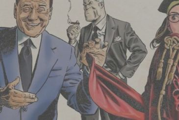 """Battle: Berlusconi on the cover of """"The groom"""""""