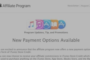 Affiliates iTunes can also be paid in credit iTunes Store