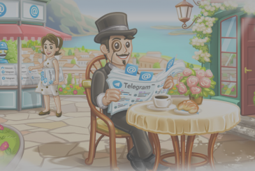 Telegram updates introducing the badge for mentions and replies in the conversations