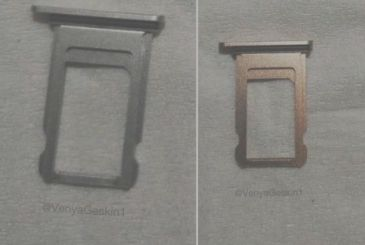 The the SIM tray of the iPhone 8 shown in new images