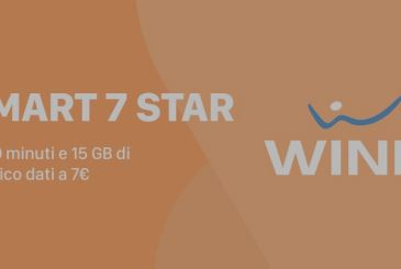 Wind Smart 7 Star possible up to 20 September, with 1000 minutes and 15 GB 7€