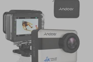 By Andoer the Action Cam with 4K touch screen and apps for iPhone